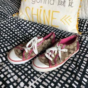 Coach tennis shoes size 8
